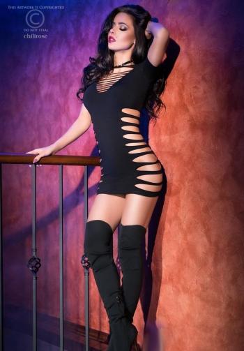 Vestido sexy negro chilirose