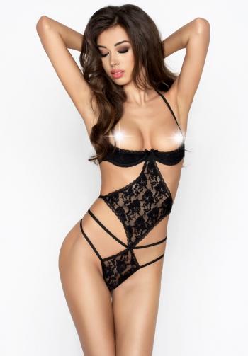 Body sexy de encaje negro