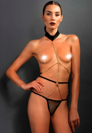 Body tanga erotico con cadenas
