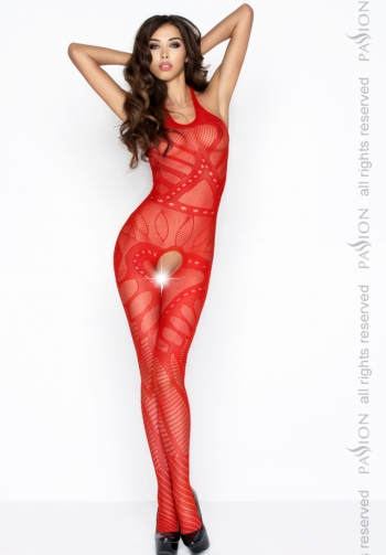 Bodystocking cuello halter roj