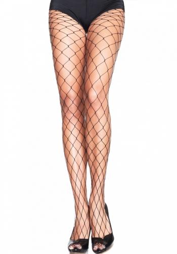 Panty de red ancha negro
