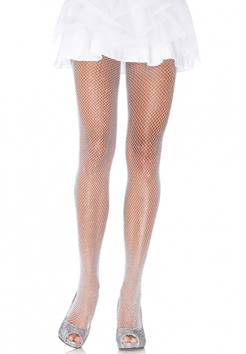 Panty de red con glitter blanc