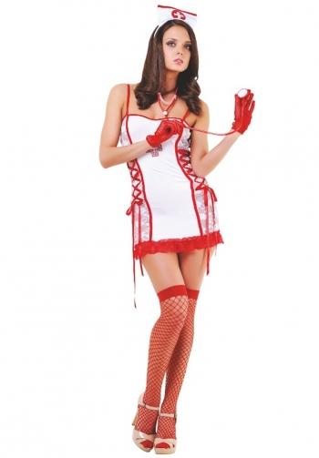 Disfraz de enfermera con encaj