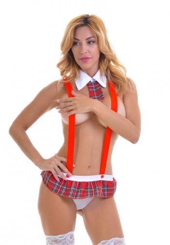 Aryana disfraz sexy de colegia
