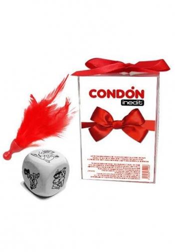 Caja regalo lazo. dado, condon