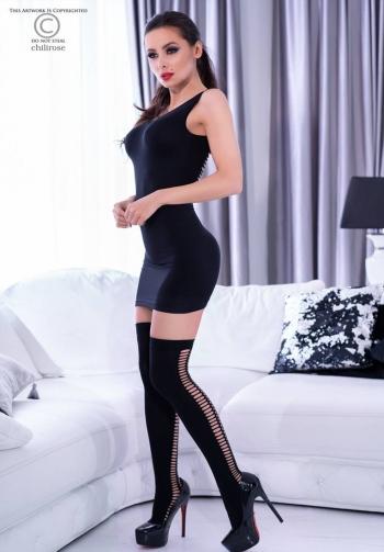 Vestido sexy con cortes y medi