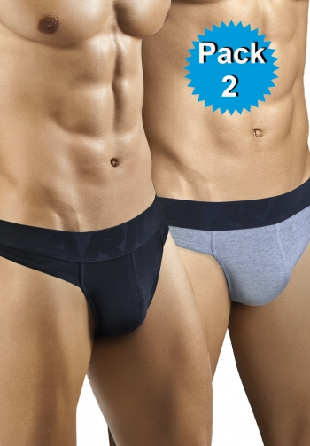 Pack 2 tangas hombre - 1 negro
