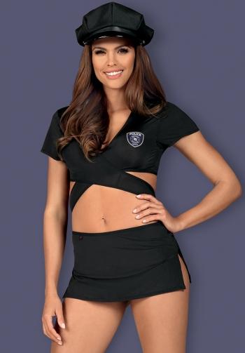 Disfraz de policia sexy negro