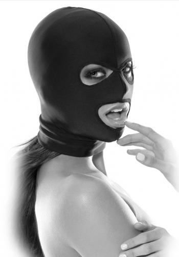 Mascara spandex hood fetish fa