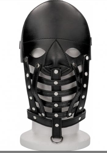 Mascara de cuero masculina neg