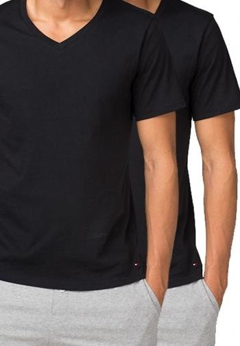 Camiseta v 2 pack negra