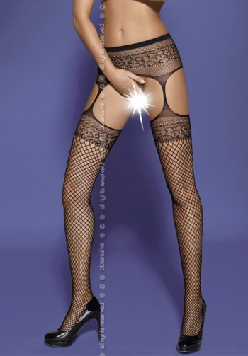 Foto mediana  Garter stockings S502 black