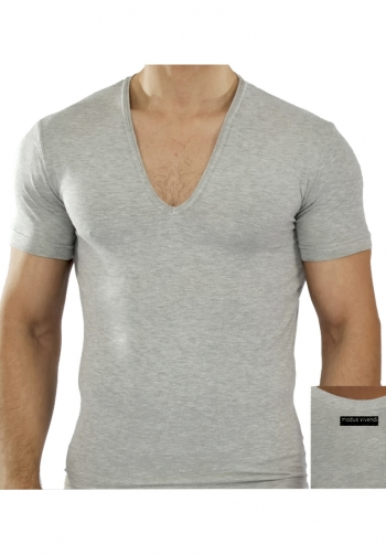 Plain v-shirt grey