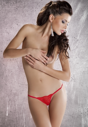 Tanga Lace red lazo