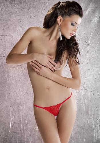 Tanga sexy lace rojo