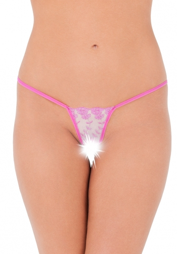 Open string chouchou rosa
