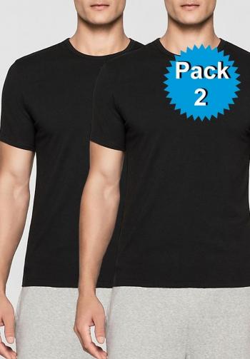 Pack 2 t-shirts negras modern
