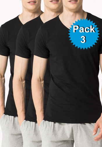 Pack 3 cotton negro
