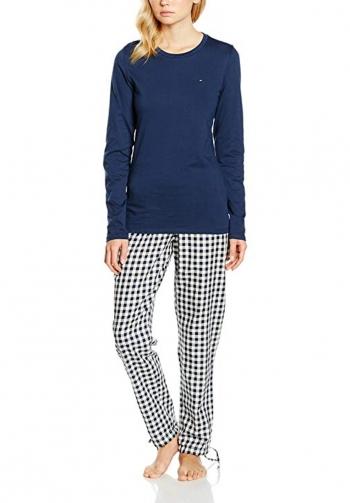 Pijama mangas largas azul y cu