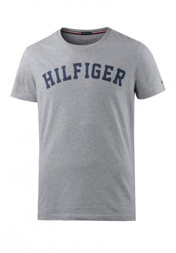 Camiseta gris tee logo tommy