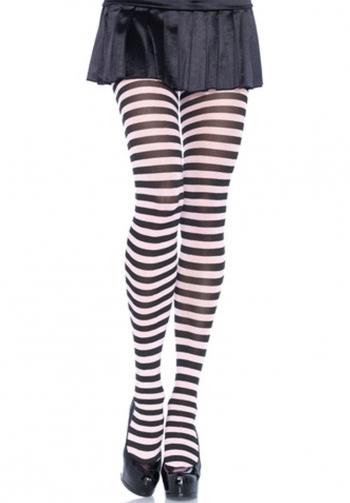 Panty rayada blanco y negro