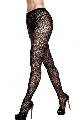 Medias panty texturadas negras