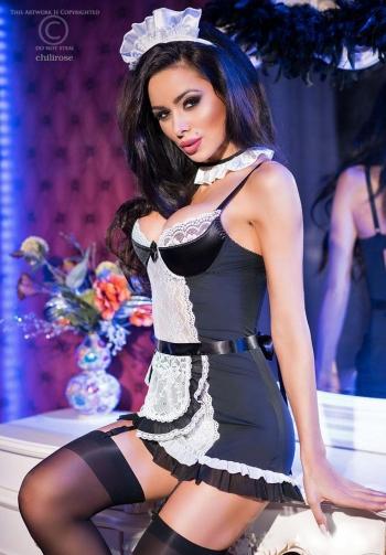 Disfraz de criada de lujo 5 pi