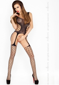 Bodystocking fino con red ampl