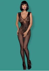 Bodystocking con alas negro