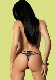Luiza thong black