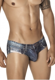 Denim jean latin brief blue