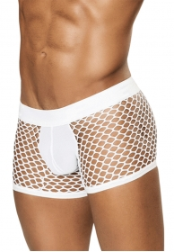 Boxer fishnet blanco