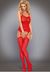 Bodystocking rojo f206 plus