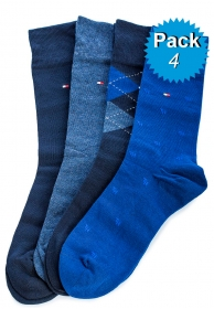 Pack 4 calcetines azules