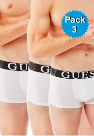 Pack 3 boxers blancos algodon