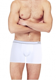 Boxer pure strech cotton blanc