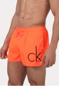 Short runner drawstring orange