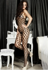 Bodystocking red de rombos neg