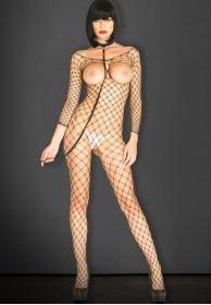 Bodystocking abierto con colla