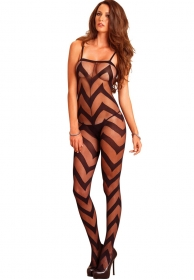 Bodystocking de red geometrica