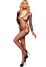 Bodystocking de red con recort
