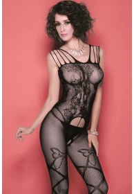 Monica bodystocking negro