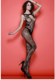 Ari bodystocking de red con fl
