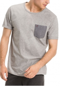 Camiseta tee pocket gris