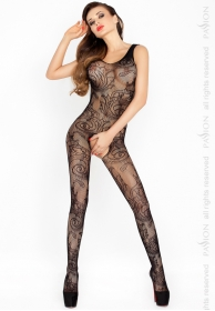 Bodystocking red decorada negr